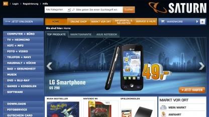 Der Onlineshop unter Saturn.de