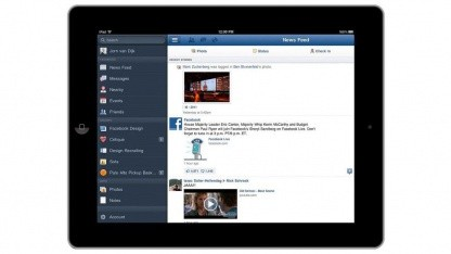 Die Facebook-App für das iPad steht zum Download bereit.
