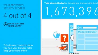 4 von 4 Punkten für den Internet Explorer.