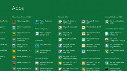 Neuer App Screen für Windows 8