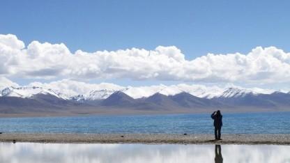 Namtso-See in Tibet: mehr Potenzial für Solarstrom als in mancher Wüste