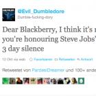 """Twitter-Spott: """"Kein guter Tag zum Sterben für Blackberry"""""""