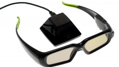 3D Vision in der ersten Generation hat noch recht kleine Gläser.