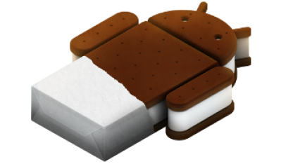 Logo von Android 4.0 alias Ice Cream Sandwich