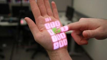 Die Hand als Touchscreen: Omnitouch