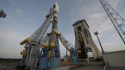 Startverzögerung: Trägerrakete Sojus in Kourou