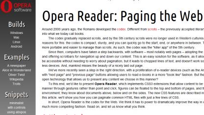 Opera Reader in Opera-Labs-Version nutzbar