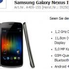 Galaxy Nexus: Samsungs Smartphone mit Android 4.0 kommt für 600 Euro