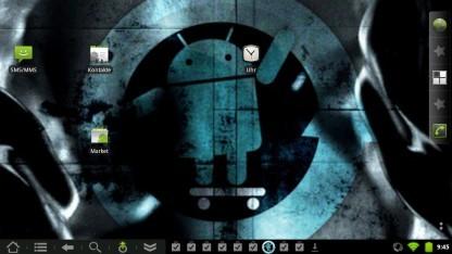 Der Homescreen von Cyanogenmod 7 auf dem Touchpad