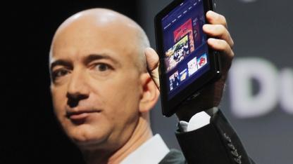 Amazon-Chef Jeff Bezos stellt das Kindle Fire im September 2011 vor.