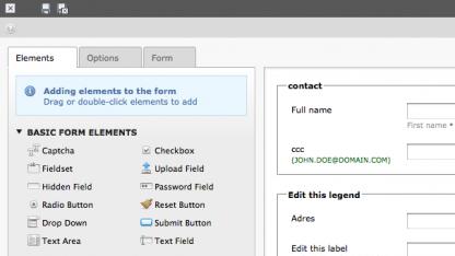 Typo3 4.6 bietet einen neuen Formular-Editor.