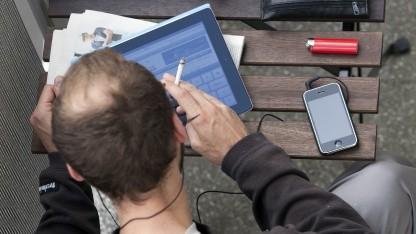 Mobiler Internetnutzer in Berlin