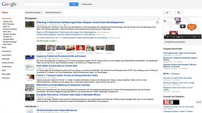 Google News komprimiert die Nachrichten stärker.