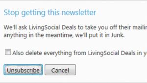 Das neue Hotmail soll Newsletter-Abbestellen einfacher machen.