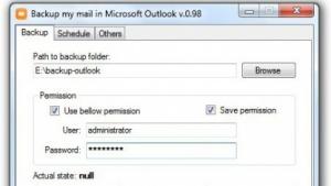 Einstellungsdialog von Backup My Mail