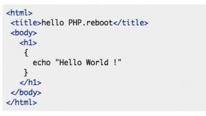 Beispiel in PHP-Reboot