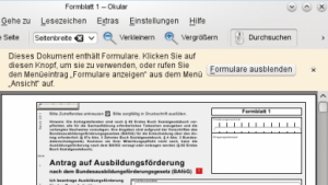 Aktuelle PDF-Betrachter können Formulare anzeigen, GNU PDF ist deshalb obsolet.