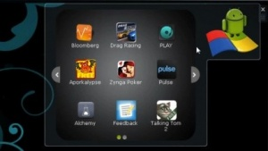 Android-Apps laufen mit dem Bluesrocks App Player unter Windows.