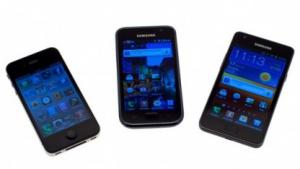 Kontrahenten: das Galaxy S, das iPhone 4 und das Galaxy S2