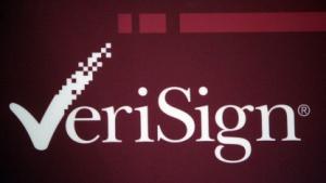 Websites abschalten: Verisign-Logo auf einer Konferenz (2007)