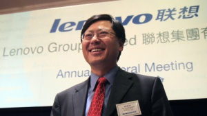 Lenovo-Chef Yuanqing Yang bei einer Unternehmensveranstaltung im Jahr 2010