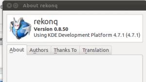 Rekonq .8 ist erschienen, die Entwicklerversion 0.85 ist bereits verfügbar.