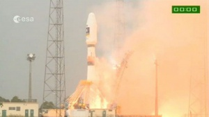 Start in Kourou: Trägerrakete Sojus mit Galileo-Satelliten an Bord