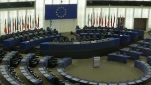 Der Plenarsaal des EU-Parlaments