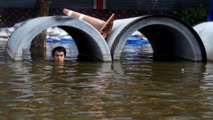 Hochwasser in Bangkok am 29. Oktober 2011