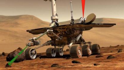 Transport per Licht: Marsrover könnten künftig Proben mit einem Laser einsammeln.