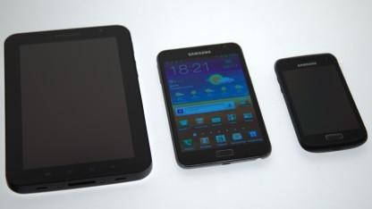 Das Galaxy Note von Samsung will sich zwischen Tablet und Smartphone als PDA platzieren.