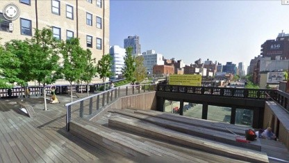 Luftige Aussicht: der High Line Park in Street View