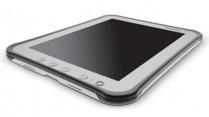 Panasonics Toughpad A1 hat ein mattes Display.