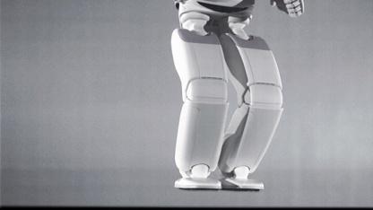 Abgehoben: Der neue Asimo kann auf einem und auf zwei Beinen hüpfen.