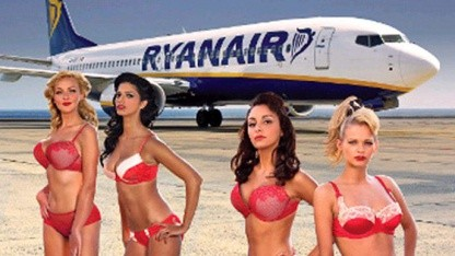 Werbung für den The Girls of Ryanair Kalendar