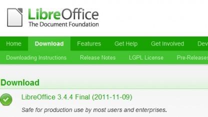 Libreoffice 3.4.4 bringt Fehlerkorrekturen.