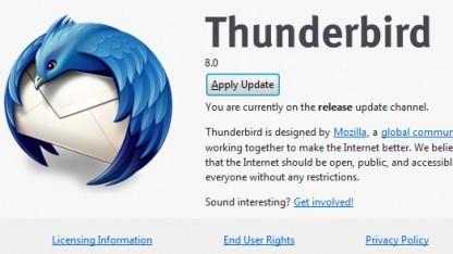 Thunderbird 8 ist fertig.
