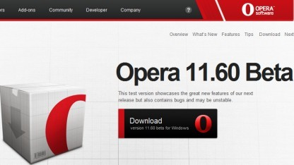 Betaversion von Opera 11.60 ist da.
