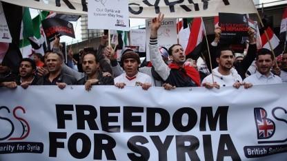 Proteste der syrischen Opposition in London