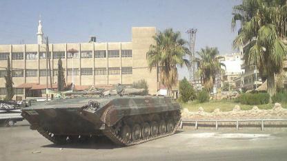 Panzer gegen syrische Demokratiebewegung