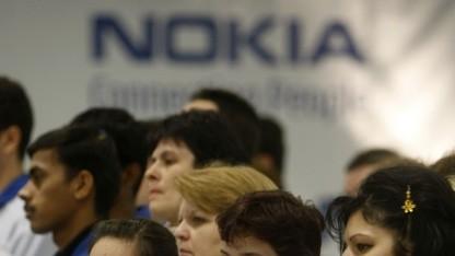 Nokia-Arbeiter in Cluj im Jahr 2008