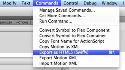 Swiffy erweitert Adobes Flash Professional.