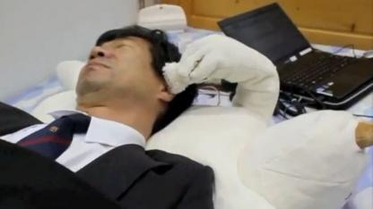 Robotisches Kopfkissen sorgt für ruhigen Schlaf.