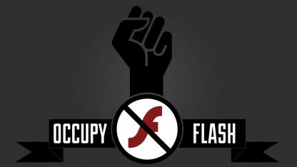 Occupyflash.org ruft zur Flash-Deinstallation auf.