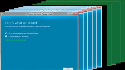 Installation von Windows 8 bestenfalls mit elf Klicks