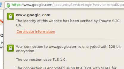 Forward Secrecy für Google-Dienste aktiviert