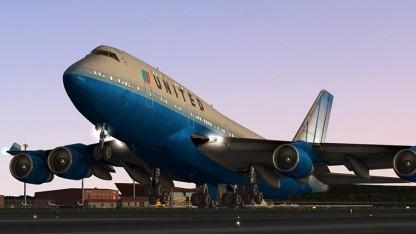 X-Plane 10 hebt ab.
