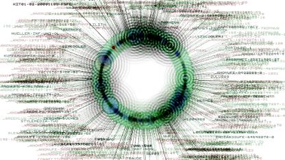 Netzwerkstruktur der dezentrale Suchmaschine Yacy