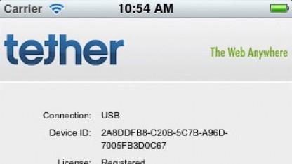 Die App iTether erlaubt die Nutzung des iPhones als Modem.