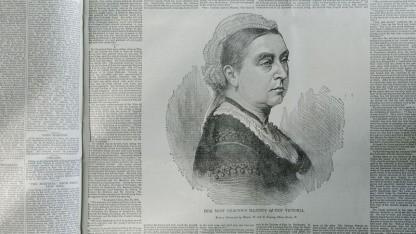 Zeitungsseite mit dem Bild von Königin Victoria: 65 Millionen Artikel aus 250 Jahren